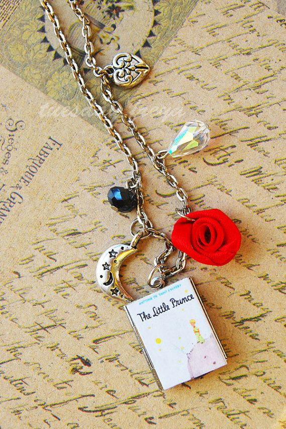 The Little Prince a miniature book locket by TuesdaysAndFridays, $24.00
