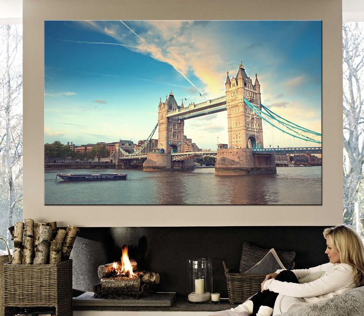 Large canvas print London Tower bridge,The River Thames Canvas Print Ready to Hang.Wall Art Multi Panel London view Multi-Sized Canvas print by CanvasPrintStudio on Etsy