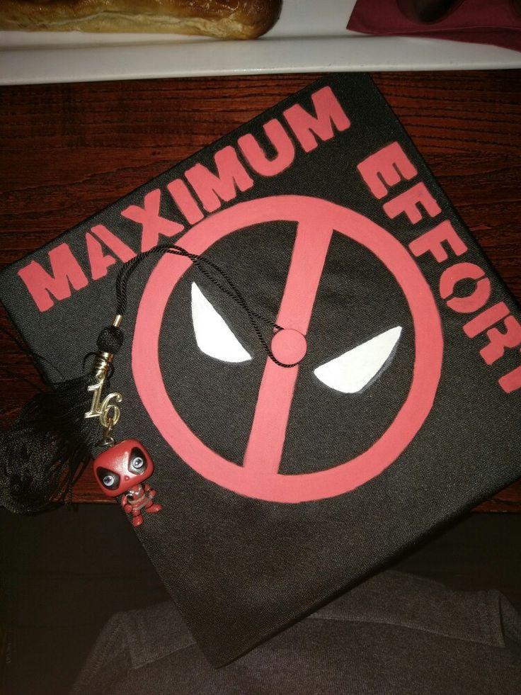 deadpool graduation cap
