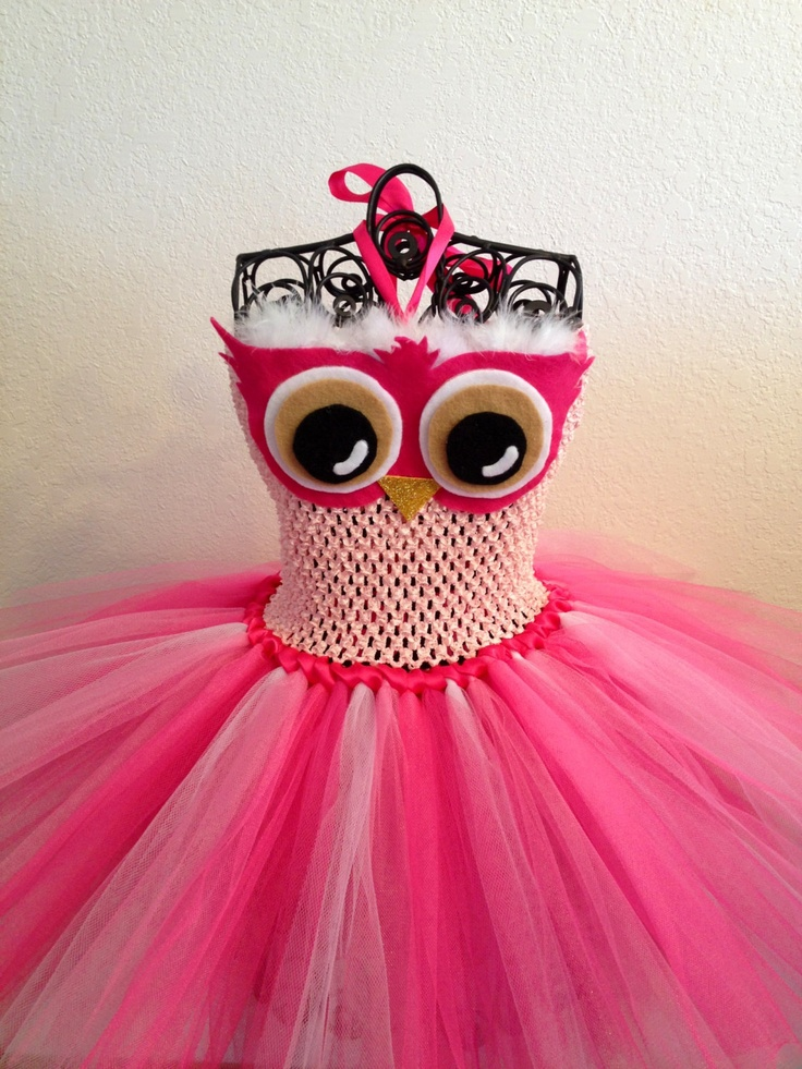 Pink Owl Tutu Dress (NB-3T). $35.00, via Etsy.