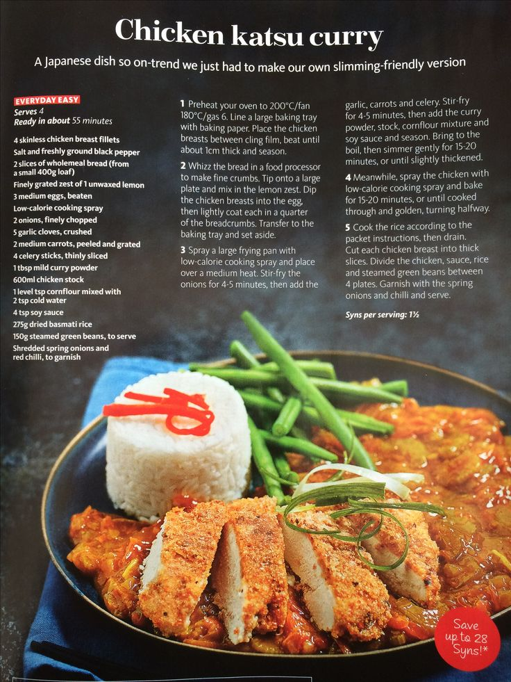 Slimming world Katsu curry - 1.5syns per serving, serves 4                                                                                                                                                      More