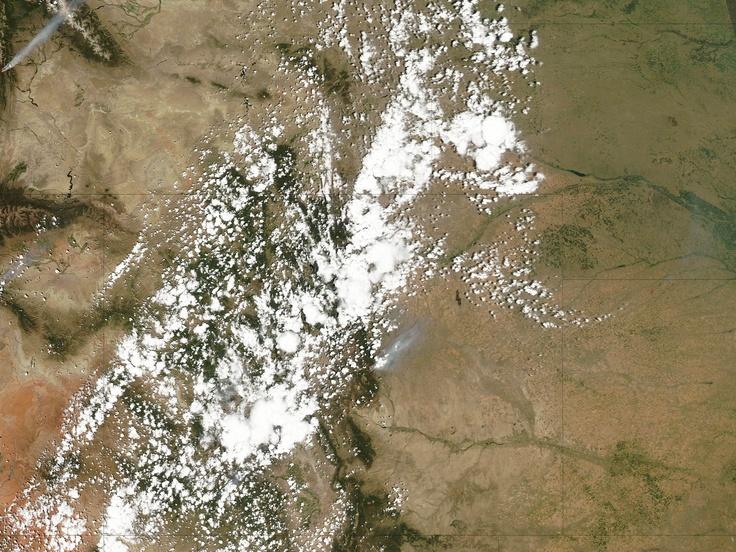 satellite image of Waldo Canyon Fire