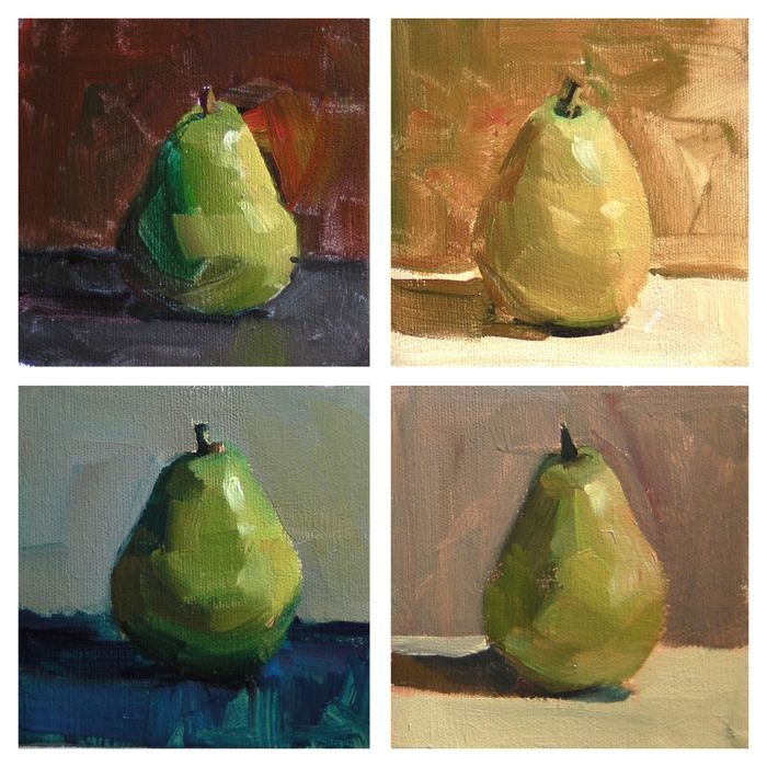 Pear - Colour Study