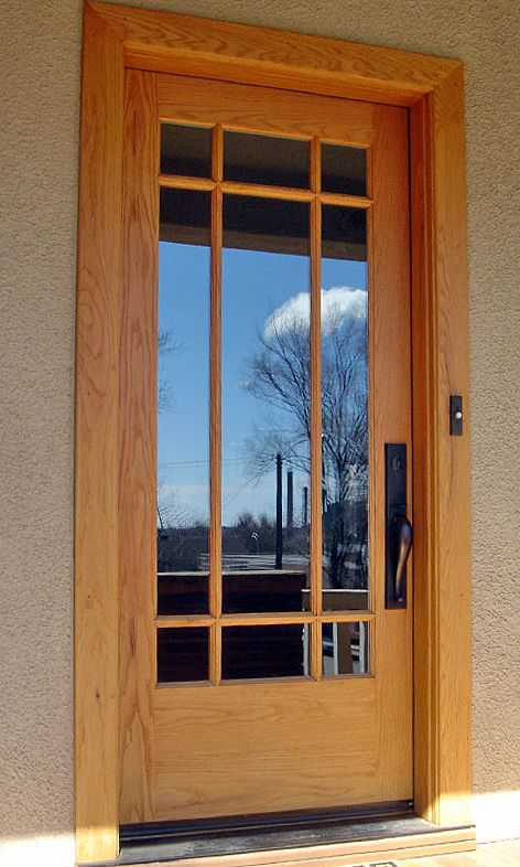 The clean style of the mullions on this red oak door creates beauty in simplicity for & 45 best Home Entry Doors images on Pinterest   Entry doors Knotty ... Pezcame.Com