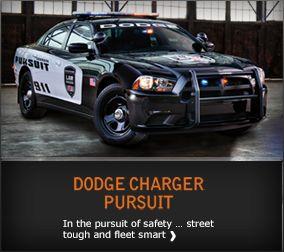 Dodge Charger Pursuit Police car - link to Chrysler's fleet website for more info