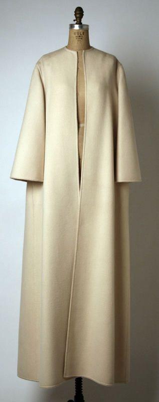 Ensemble Geoffrey Beene (American) ca. 1976 wool coat.