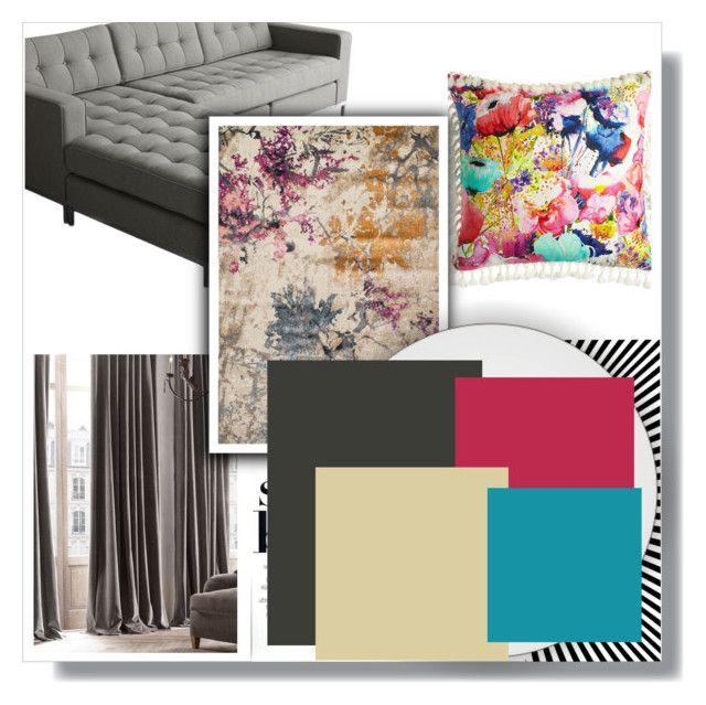 """fresh homey"" by kata-koppany on Polyvore featuring interior, interiors, interior design, home, home decor, interior decorating, Restoration Hardware, Mrs Darcy and Dalyn"