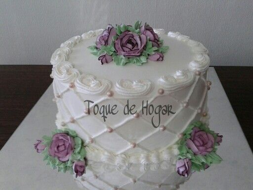 Beautiful cake with cream
