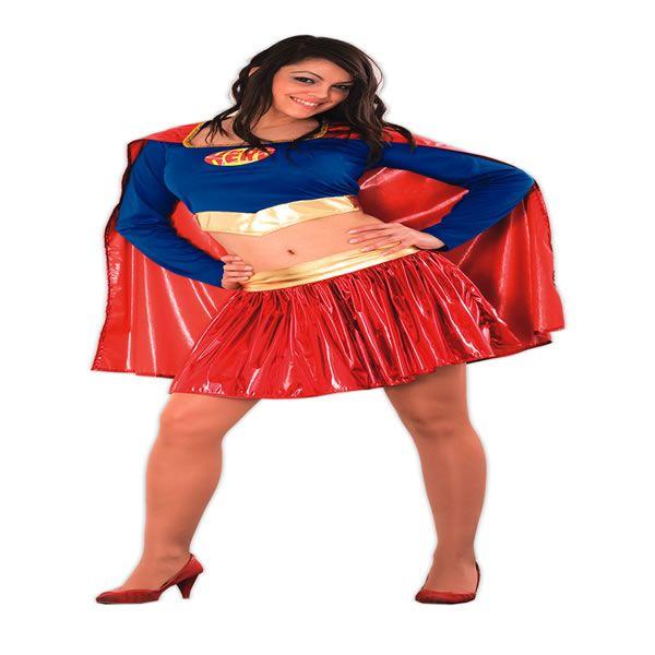 DisfracesMimo, disfraz superman mujer barato talla m/l.Conviértete en una heroína de marvel y ser una superheroes en película con este traje espectacular disfraz de Supergirl Top para mujer. Esta superheroina es ideal para tus fiestas temáticas de disfraces para mujer adultos.