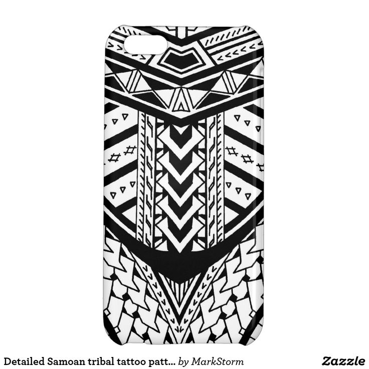 Detailed Samoan tribal tattoo pattern iPhone 5C Case