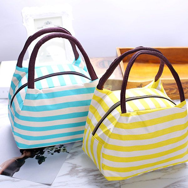 Oxford Lunch Tote Bag Cooler Insulated Handbag Zipper Storage Containers