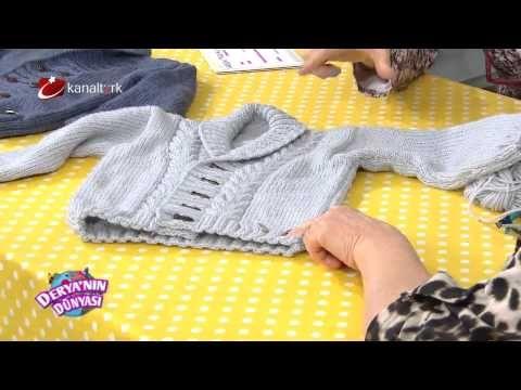 Deryanın Dünyası Örgü ile Erkek ceketi yapımı - YouTube