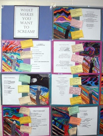 """An art/writing processing prompt using """"The Scream"""" as inspiration."""