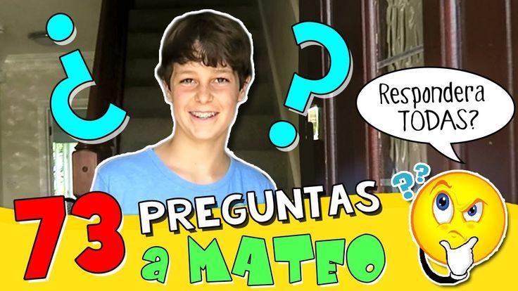 ⁉️ 73 PREGUNTAS a MATEO HAACK * TAG  ¿Te has ENAMORADO alguna vez?  ¿T...