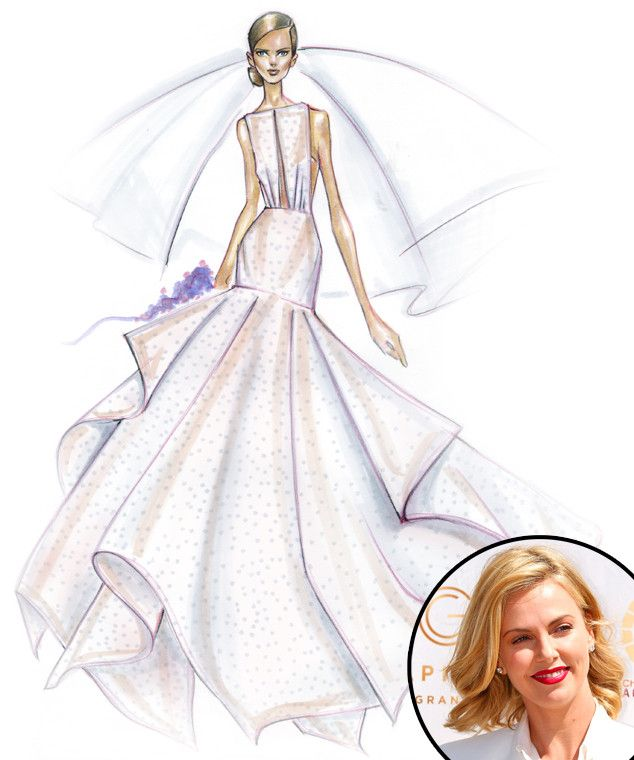 designers sketch their dream wedding dresses for celeb brides to be sofia vergara