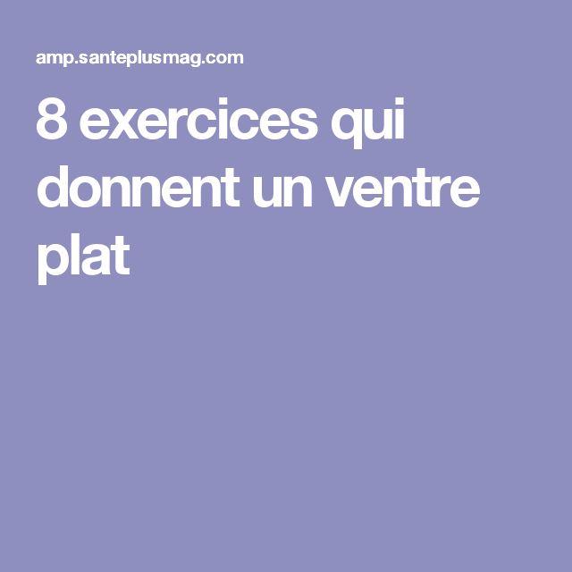 8 exercices qui donnent un ventre plat