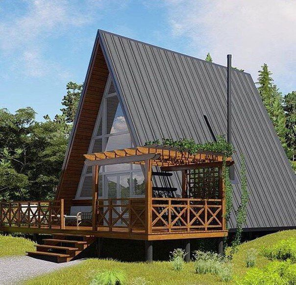 House In The Shape Of An A Frame House Hut Home Builds