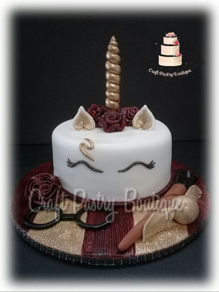 Unicorn Harry Potter B-day Cake Theme Facebook Oficial Page #CraftPastryBoutique