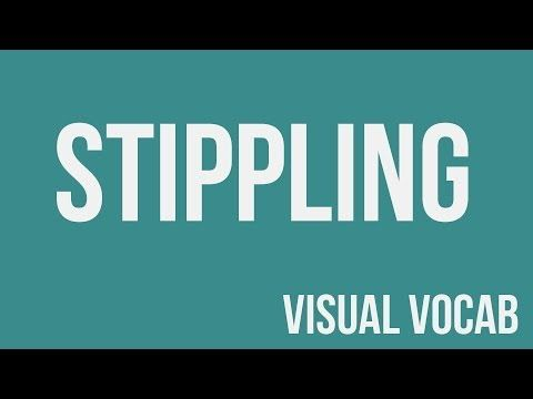 Stippling defined - From Goodbye-Art Academy - YouTube