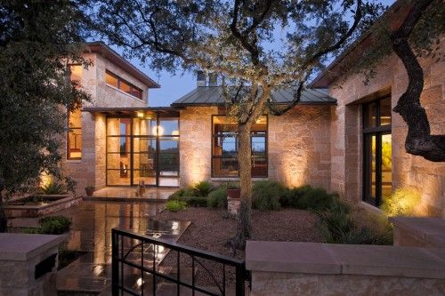 Gorgeous contemporary home outside of Austin, TX.