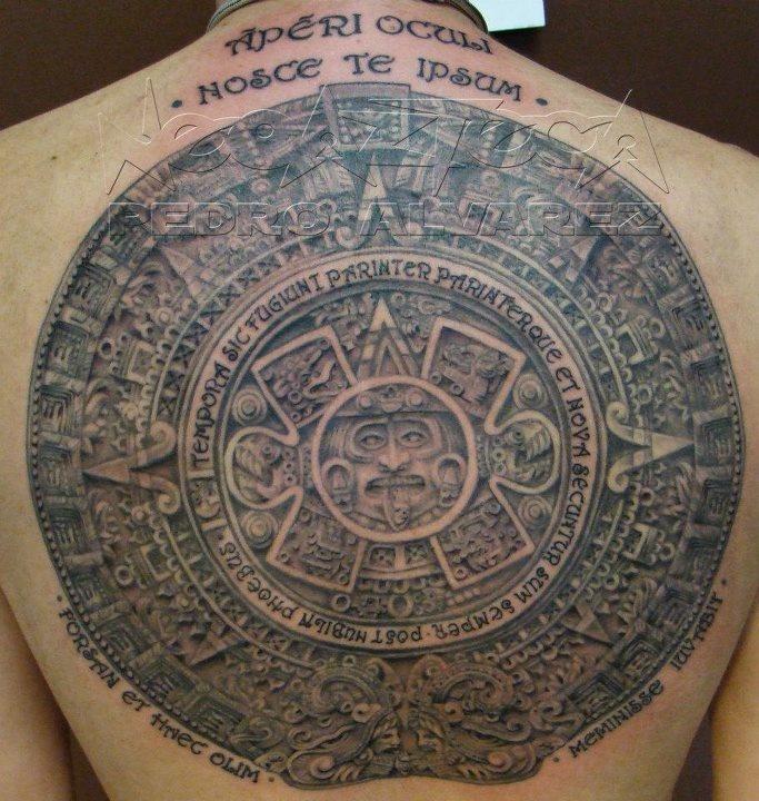 Excelente Colorear Calendario Azteca Molde - Dibujos Para Colorear ...