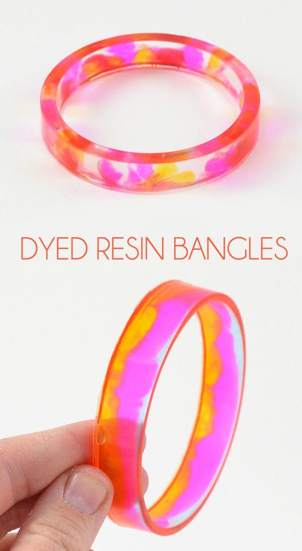 Dyed Resin Bangles Resin Bracelet Resin And Super Easy