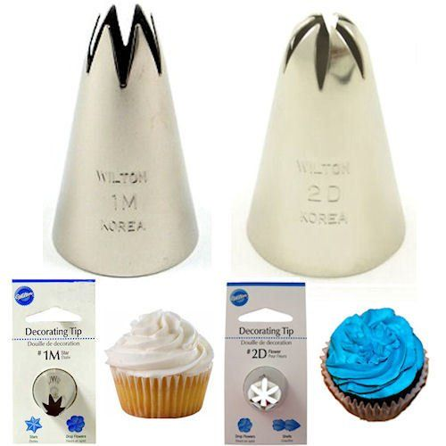 Wilton 1m open star 2d drop flower decorating tips for Star decorating tip