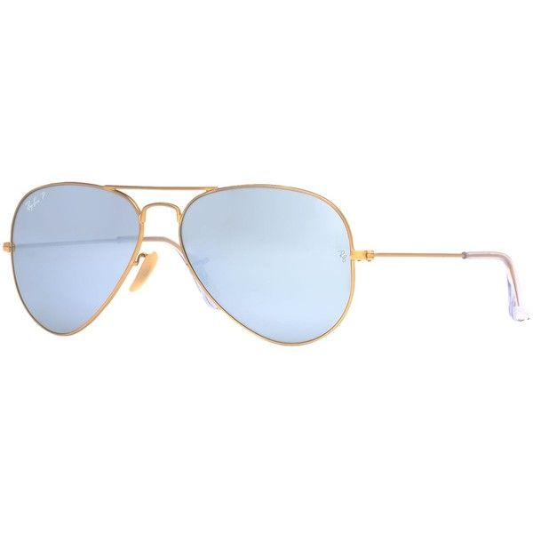 Ray-Ban Sunglasses Ray-ban RB3025 58 Original Aviator (€180) ❤ liked on Polyvore featuring accessories, eyewear, sunglasses, mirror sunglasses, pink mirrored aviators, gold mirror sunglasses, ray ban sunglasses and pink sunglasses