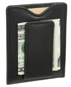 Slim no frills clip. This money clip can hold your bills and has slots for credit cards. #Wallet #Money Clip