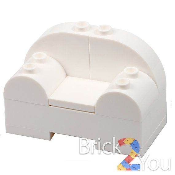 LEGO Custom White Armchair Arm Chair Inspired 71006 by Brick2you
