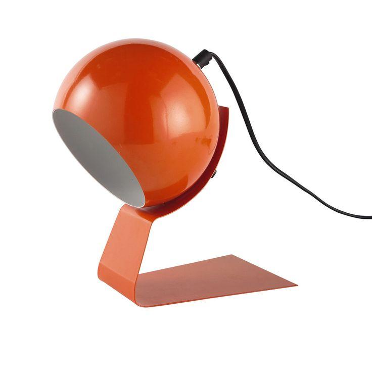 Lampe en métal orange H 23 cm BUBBLE