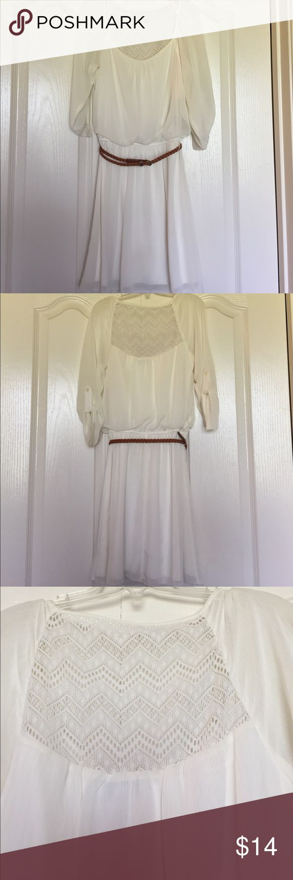 NWOT Ivory lace-back dress New without tags. Comes from a smoke free home. 😊 Dresses