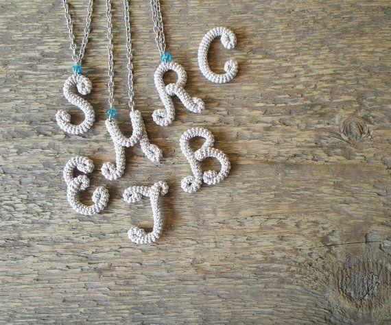 Damigelle d'onore gioielli collana iniziale di di vanessahandmade
