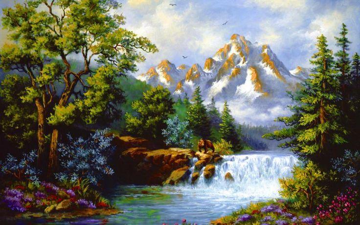 Duvar kağıdı Etiketler: güzel düşen güzel sonbahar karlı güzel kıyı çiçekler güzel nehir bulutlar dağ dere doğa ağaç, hayvan bahar su sanat şelale