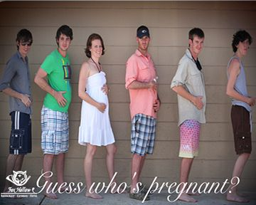 Funny #BabyAnnouncement.  Can you guess who is pregnant?