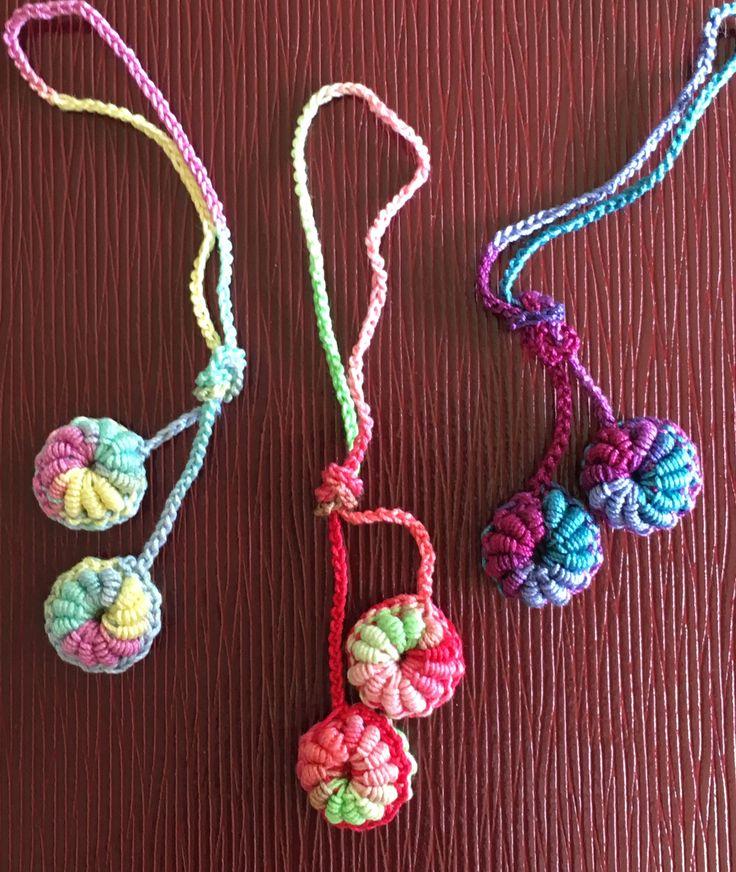 高嶋針で作るコイル編み takashima bari macaron strap