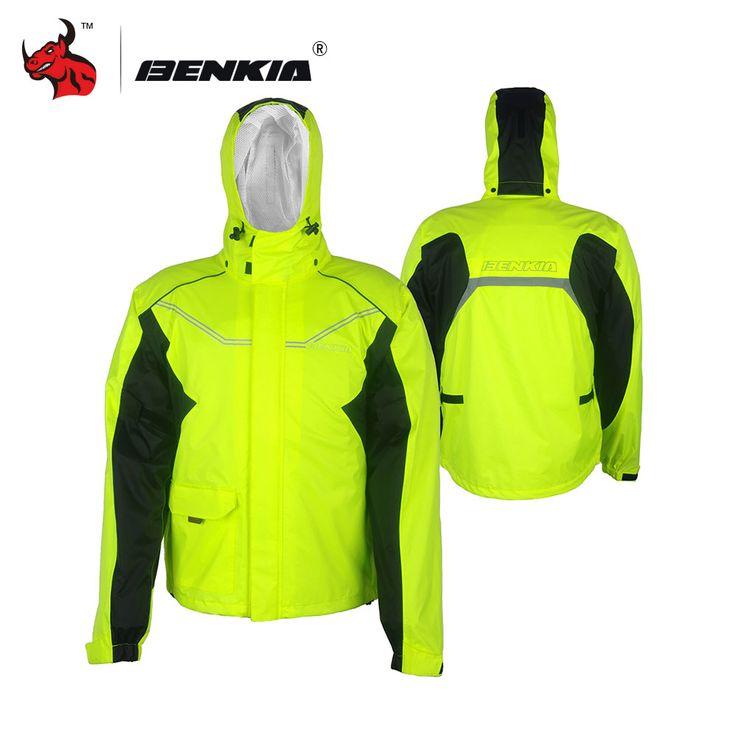 BENKIA Motorcycle Rain Suit Motorcycle Bicycle Rain Gear Riding Jackets Moto Waterproof Rain Jacket Men Women Hooded Raincoat * Locate the offer on www.aliexpress.com simply by clicking the image #Womensjackets