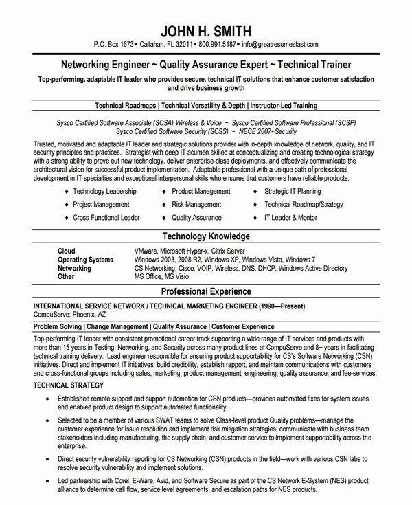27 Network Engineer Resume Example In 2020 Engineering Resume Engineering Resume Templates Network Engineer