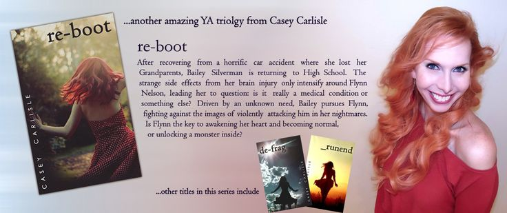 Working on getting a complete draft of the first book in a new YA series in the next few months... sort of science fiction, sort of paranormal, with a heavy dollop of mystery and romance. For more information visit www.caseycarlisle.com