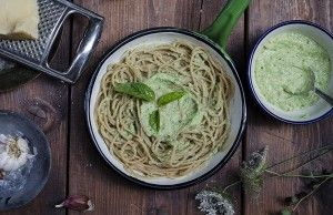 Pesto di zucchine e ricotta