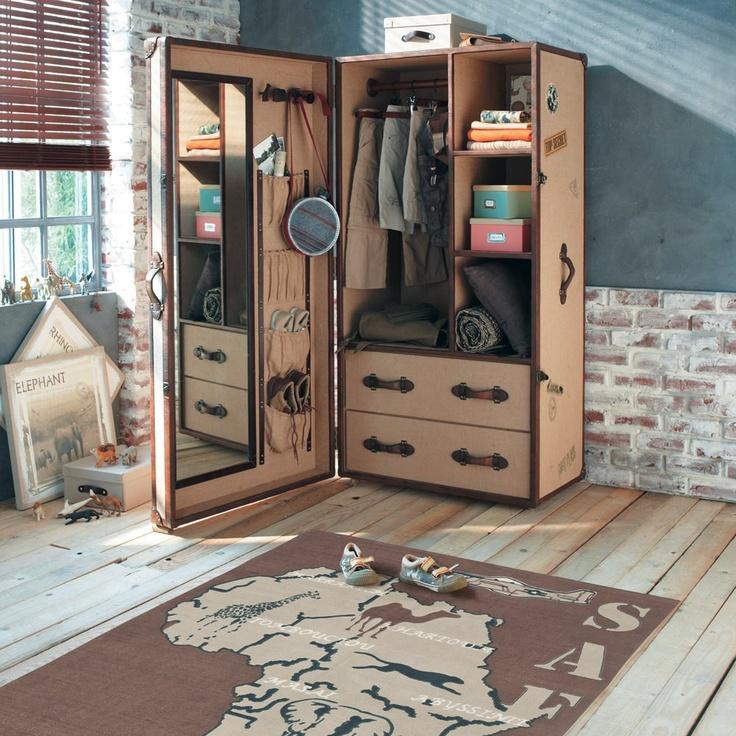 Children's single wardrobe PHILEAS FOGG - Cupboards and wardrobes - Maisons du Monde