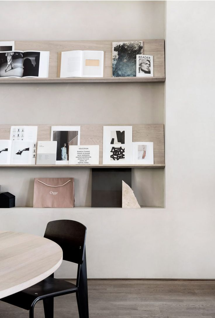Norm Architects worked closely with Kinfolk's editor-in-chief Nathan Williams and communications director Jessica Gray to develop Kinfolk's workplace design, which features a gallery as well as an office.