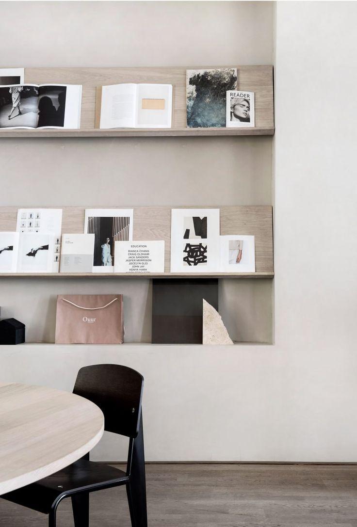 Bespoke table and shelves at the Kinfolk Office, Copenhagen - Oak by Dinesen