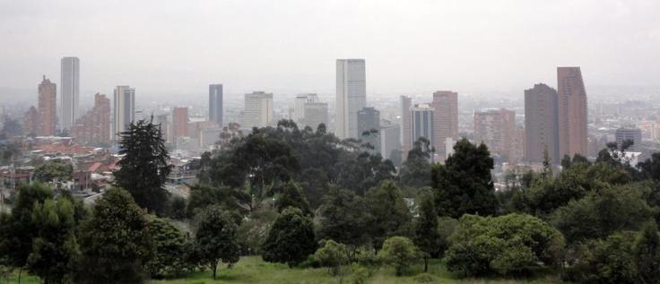 View of Bogota from La Calera.  #Bogota #travel #tourism
