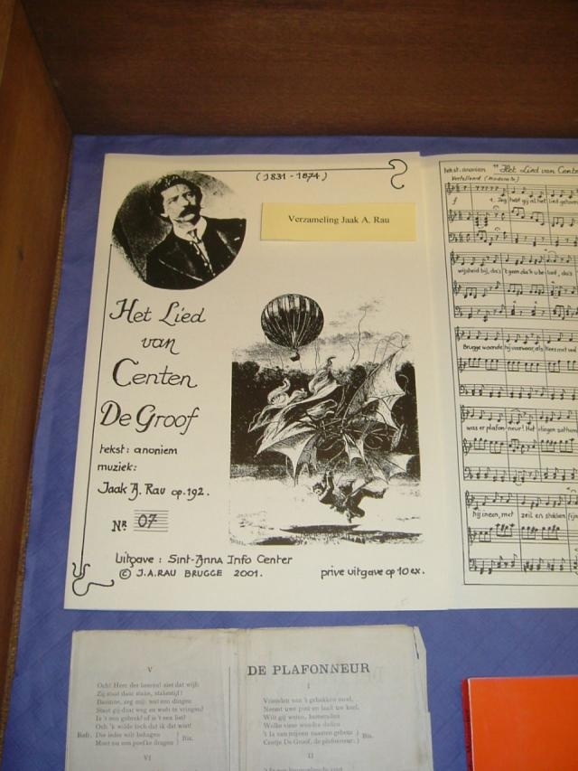 tentoonstelling Efgoeddag 2005 - het gevaar van het verdwijnen van de volksmuziek en oude instrumenten - het lied van Vincent De Groof