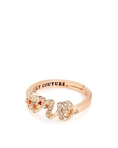 Juicy Couture Rose Gold - $40 - LOVE this!!! Christmas/Bday list :) Pave Love Ring