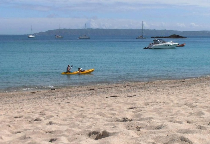 How one of the VisitGuernsey team members spent their Sunday... Shell Beach, at #Herm  Island. #LoveGuernsey