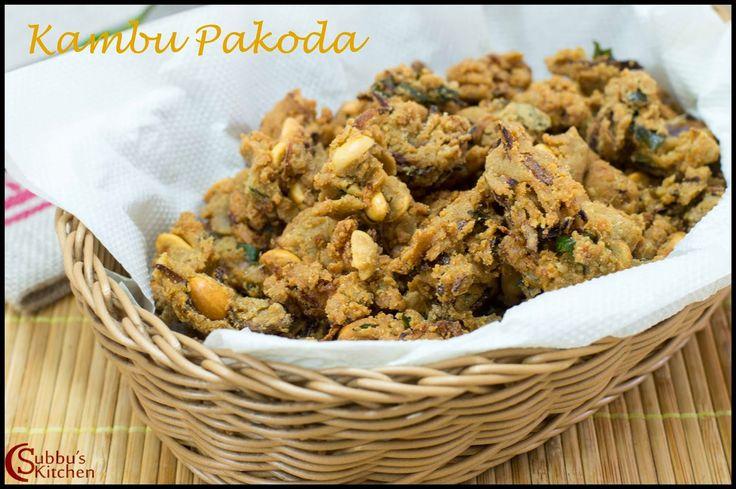 Kambu Pakoda Recipe | Onion Pakoda using Kambu Flour | Subbus Kitchen