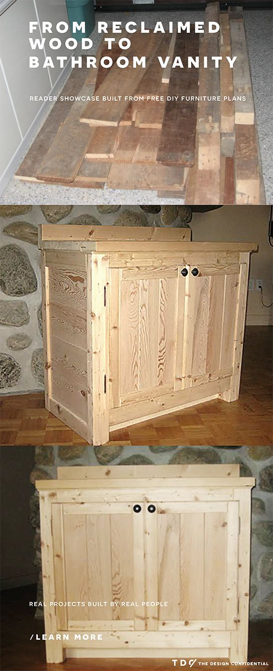 How to build a bathroom vanity woodworking projects plans for Bathroom vanity plans