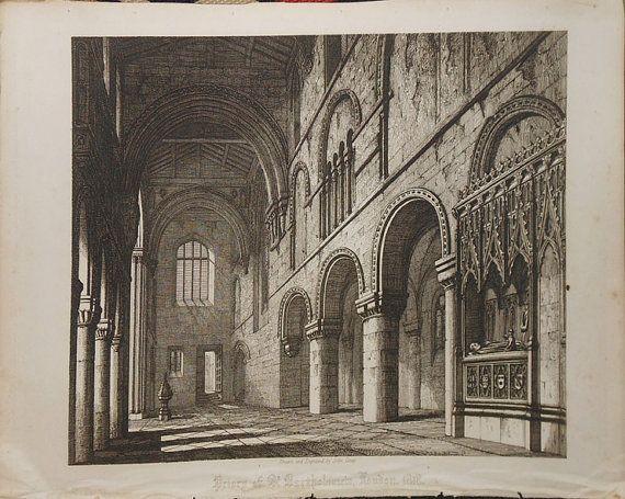 priory of st Bartholomew church  london by WeVintageArtfulShop